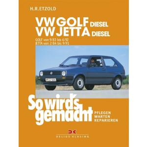 VW Golf II / VW Jetta Diesel Reparaturanleitung Delius 45 So wirds gemacht