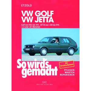 VW Golf II  Jetta Reparaturanleitung Delius 44 So wird`s gemacht