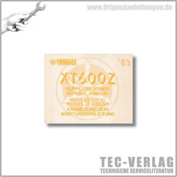 Yamaha XT 600 Z (83) - Ergänzung Wartungsanleitung