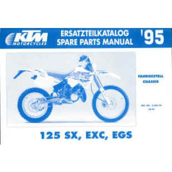 KTM 125 SX,  EXC, EGS - Ersatzteilkatalog Chassis