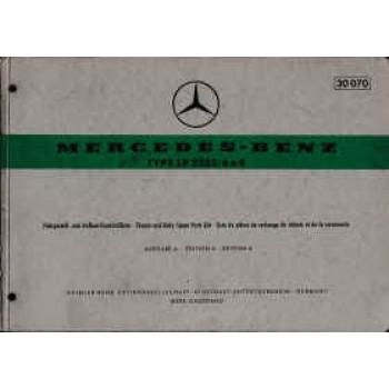 Mercedes LP 2223 / 6x4 - Fahrgestell- und Aufbau Ersatzteilliste, Parts List