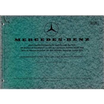 Mercedes Mechanisches DB-Getriebe BM 710.0 Ersatzteilliste