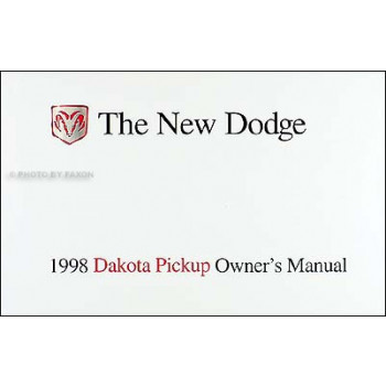 Chrysler Dakota Pickup (1998) Owners Manual