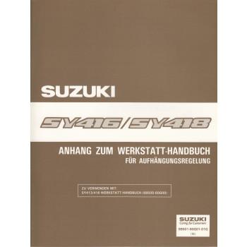 Suzuki Baleno SY 416 / SY 418 - Werkstatthandbuch Aufhängungsregelung