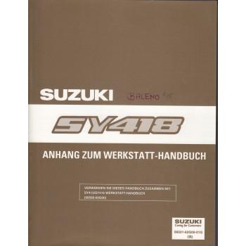 Suzuki Baleno (95-01) -  Werkstatthandbuch Ergänzung SY 418