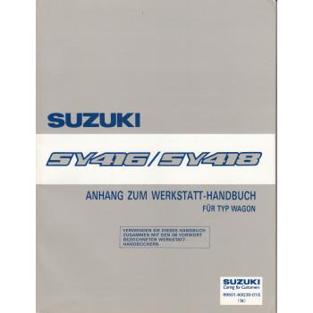 Suzuki Baleno SY 416 / 418 (95-01) -  Werkstatthandbuch Ergänzung Kombi