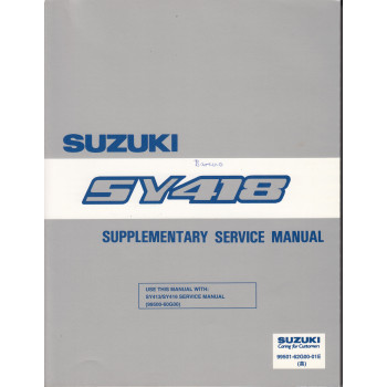 Suzuki Baleno (95-01) - Supplementary Service Manual SY 418