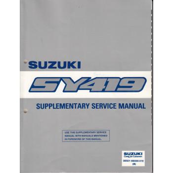 Suzuki Baleno (95-01) - Supplementary Service Manual SY 419