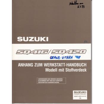 Suzuki Grand Vitara (98-05) - Anhang für Modelle mit Stoffverdeck