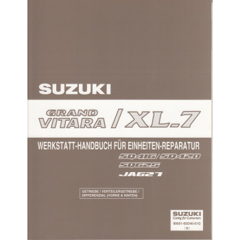 Suzuki Grand Vitara / XL-7 (98-05) - Werkstatthandbuch für das Getriebe
