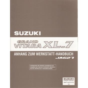 Suzuki Grand Vitara XL-7 (98-05) - Anhang zum Werkstatthandbuch für JA627