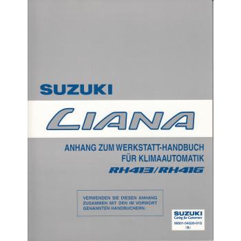 Suzuki Liana (01-07) - Anhang zum Werkstatthandbuch - Klimaautomatik