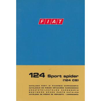 Fiat 124 Sport Spider Typ CS (1972)  - Ersatzteilkatalog Karosserie