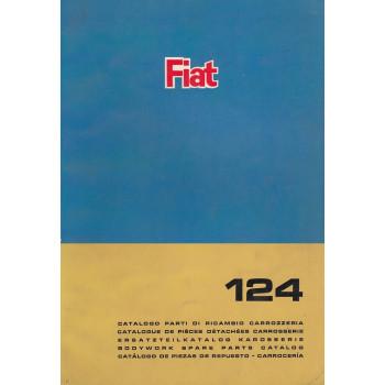 Fiat 124 (1966)  - Ersatzteilkatalog Karosserie