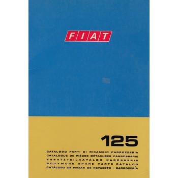 Fiat 125 (1970)  - Ersatzteilkatalog Karosserie