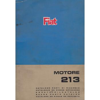 Fiat Motor 213 (1966)  - Ersatzteilkatalog Motor