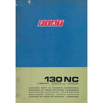 Fiat 130 NC und abgeleitete Typen (1973)  - Ersatzteilkatalog Karosserie