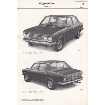 Fiat 132 (1973)  - Werkstatthandbuch