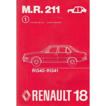 Renault 18 / R18 (1978) Karosserie - Werkstatthandbuch