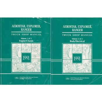Ford Truck Shop Manual Aerostar Explorer Ranger (1991) - Handbuch 2-Teilig