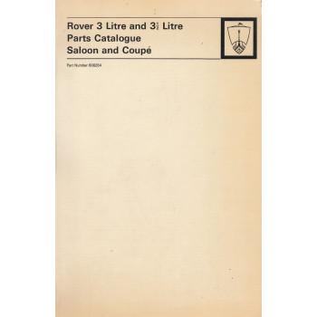 Rover 3 und 3 1/2 Liter (1972) - Parts Catalogue Ersatzteilkatalog