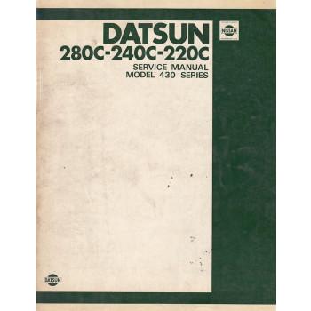 Datsun 220C - 240C - 280C Nissan Cedric (1979) - Werkstatthandbuch Shop Manual