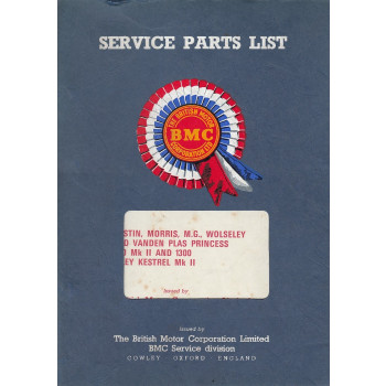 Austin & Morris 1100 Mk II & 1300 Mk II (67) - Ersatzteilkatalog Parts Catalogue