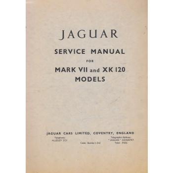 Jaguar Mark VII / 7 & XK 120 - Werkstatthandbuch Service Manual