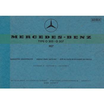 Mercedes Benz O 305 / O 307 (1973) - Ersatzteilkatalog