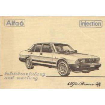 Alfa Romeo 6 (83-86) - Betriebsanleitung