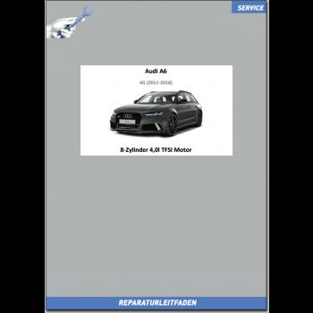 Audi A6 4G (2011-2018) Reparaturleitfaden Motor 8-Zyl. 4,0l TFSI Motor