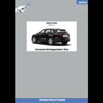 Audi e-tron (2019>) Reparaturleitfaden Karosserie-Montagearbeiten Sitze