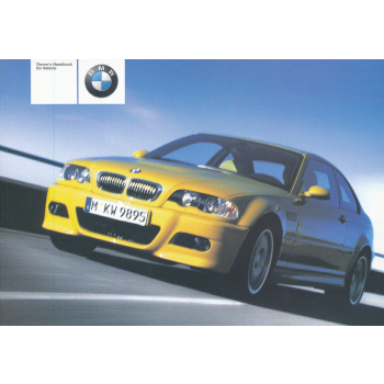 BMW M3 E46 Coupe (01>) Owner Manual / Owners Handbook