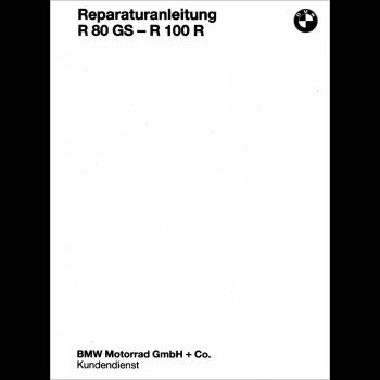 BMW R80 R/GS , R100 R/GS PD, Mystik (87-95) Reparaturanleitung