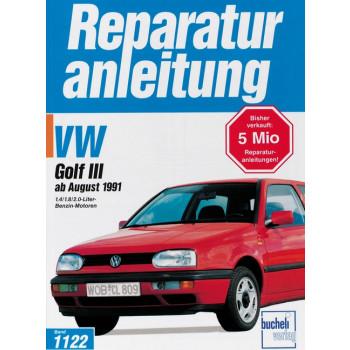 VW Golf III (91>) Benziner 1.4 / 1.8 / 2.0 Liter- Reparaturanleitung