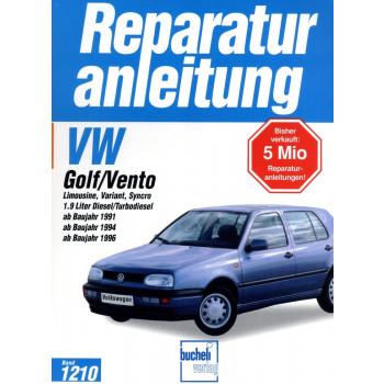 VW Golf III / Vento Diesel 1,9 Liter (1991-1997) - Reparaturanleitung