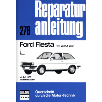 Ford Fiesta (1,0 und 1,1L) L / S / Ghia - Reparaturleitfaden