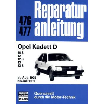 Opel Kadett D 1,0 / 1,2 / 1,3 Liter (1979-1981) - Reparaturanleitung