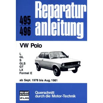 VW Polo L / GL / S / GLS / GT  / LX / Formel E (1978-1981) - Reparaturanleitung