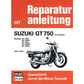 Suzuki GT 750 Wasserbüffel (1971-1976) Reparaturanleitung