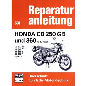 Honda CB 250 G5 / Honda CB 360 (1974-1977) - Reparaturanleitung
