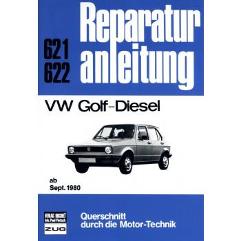 VW Golf 1 Diesel 1,6 Liter (1980-1983) - Reparaturanleitung Bucheli