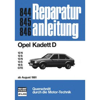 Opel Kadett D 1,2 / 1,3 / 1,6 / GTE (81-84) - Reparaturanleitung Bucheli