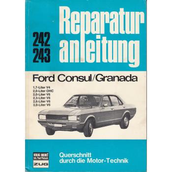 Ford Consul / Granada V4 / V6 / OHC (72-77) - Reparaturanleitung Bucheli