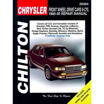 Chrysler / Dodge 6 Cyl. Front Wheel Cars (88-95) Repair Manual Chilton