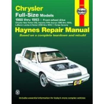 Chrysler Full-Size Front-wheel drive (88 - 93) - Repair Manual Haynes