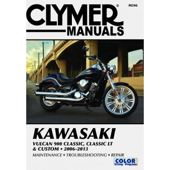 Kawasaki Vulcan 900 Classic, Classic LT, Custom (06-13) Reparaturanleitung