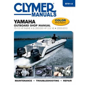 Yamaha 75-115 HP Inline 4 200-250 HP 3.3L V6 Outboard (00-13) Shop Manual