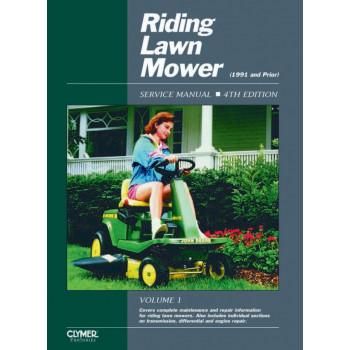 Aufsitzmäher Riding Lawn Mover 4th Edition (<91)  Repair Manual Clymer