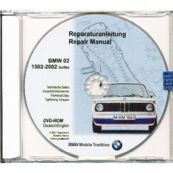 BMW 02 Serie 1502-2002 Turbo  - Werkstatthandbuch DVD